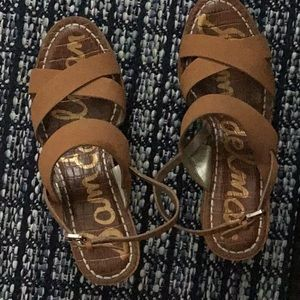 Sam Edelman Brown Wedge Sandals